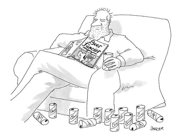 Interior Drawing - New Yorker July 25th, 2005 by Jack Ziegler