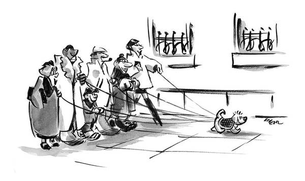 Leash Drawing - New Yorker December 20th, 2004 by Lee Lorenz