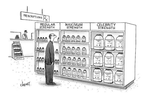 Medicine Drawing - New Yorker May 21st, 2007 by Tom Cheney