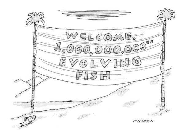 Welcome Drawing - New Yorker May 15th, 2006 by Mick Stevens
