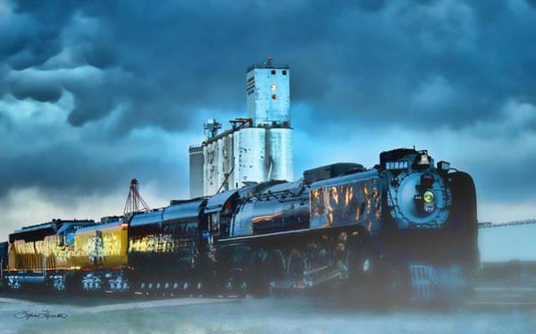 Union Pacific Railroad Wall Art - Photograph - 844 Night Train by Sylvia Thornton