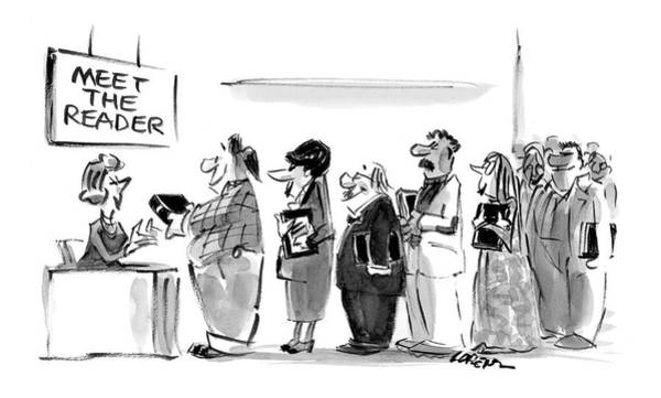 Line Up Drawing - New Yorker November 8th, 2004 by Lee Lorenz