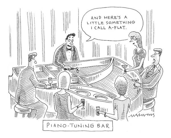 Piano Drawing - Piano-tuning Bar by Mick Stevens
