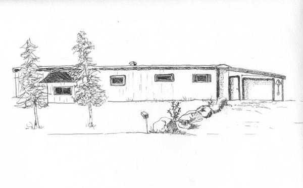 Trailer Drawing - 875 Mary Dr. Fbak by Sarah Hamilton