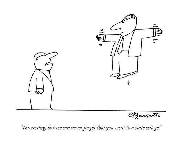 Employer Drawing - Interesting by Charles Barsotti