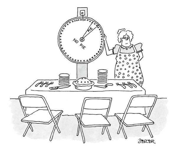Wheel Drawing - New Yorker February 19th, 2007 by Jack Ziegler