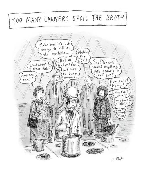 Cook Drawing - New Yorker May 21st, 2007 by Roz Chast