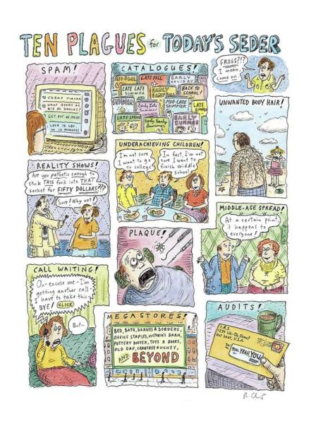 Hair Drawing - New Yorker April 13th, 2009 by Roz Chast