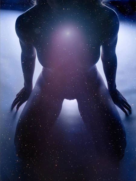 Photograph - 8995 Passion Series Woman In Starfield by Chris Maher
