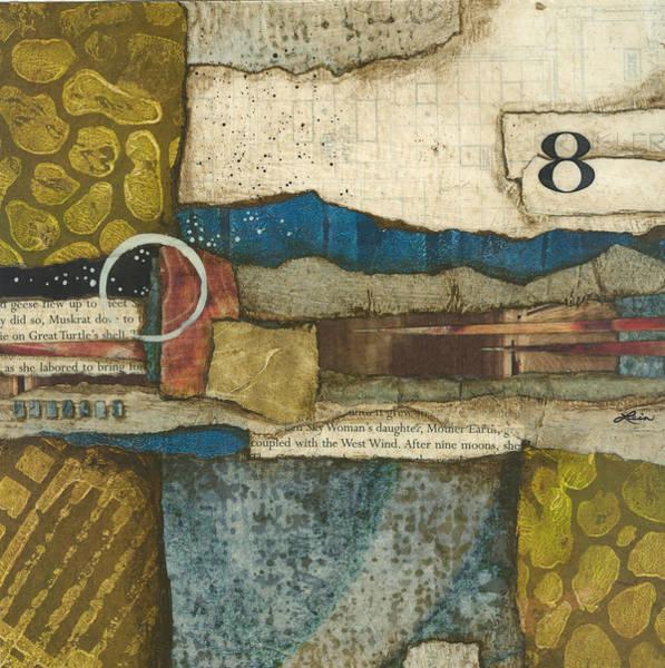 Abstract Wall Art - Mixed Media - 8th Before The Nineth Moon by Laura  Lein-Svencner