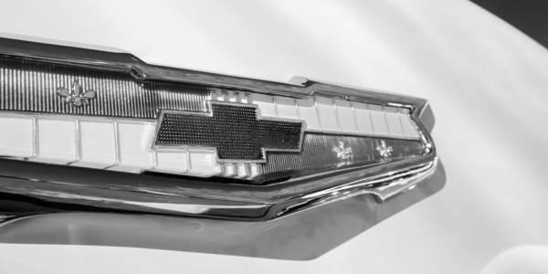 Photograph - 1955 Chevrolet Belair Emblem by Jill Reger