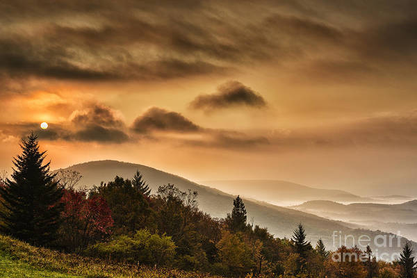 Highland Scenic Highway Wall Art - Photograph - Allegheny Mountain Sunrise #6 by Thomas R Fletcher