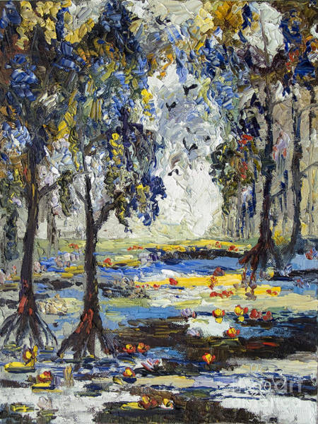 Painting - 9 Am In The Okefenokee Georgia by Ginette Callaway
