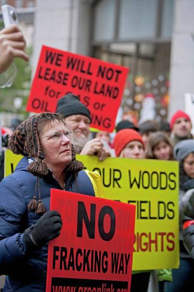 Placard Photograph - Anti-fracking Protest by Jim West