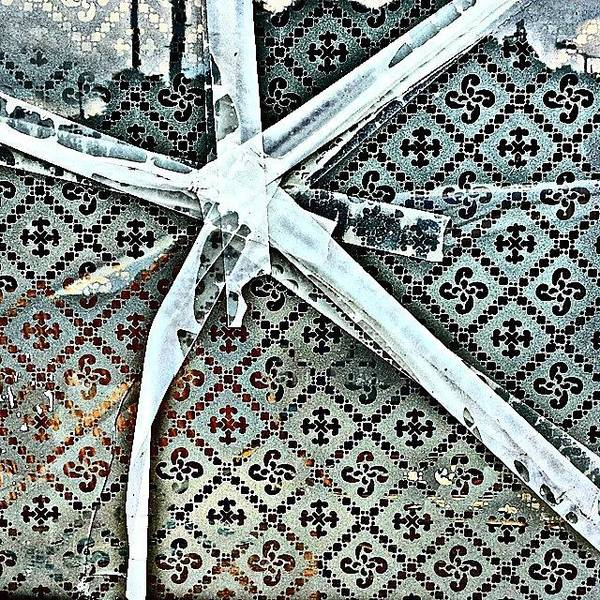 Pattern Photograph - Broken Window by Jason Michael Roust