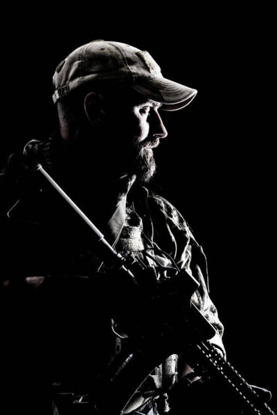Wall Art - Photograph - Bearded Special Forces Soldier by Oleg Zabielin