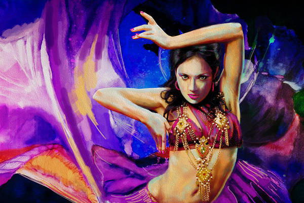 Belly Dance Painting - Kaatil Haseena 2 by Corporate Art Task Force