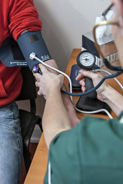 Wall Art - Photograph - Blood Pressure Measurement by Lewis Houghton/science Photo Library