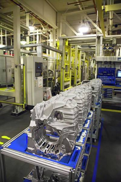 Transmission Wall Art - Photograph - Car Transmission Assembly Line by Jim West