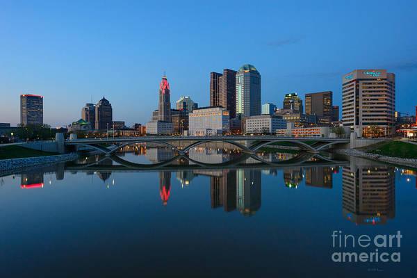 Photograph - Fx2l-508 Columbus Ohio Skyline Photo by Ohio Stock Photography