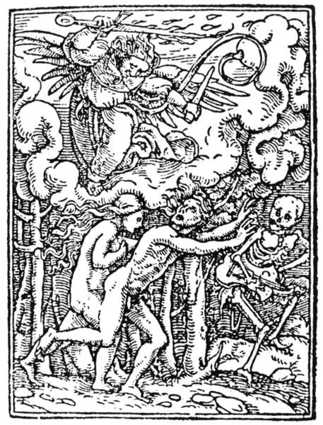 Wall Art - Painting - Dance Of Death, 1538 by Granger
