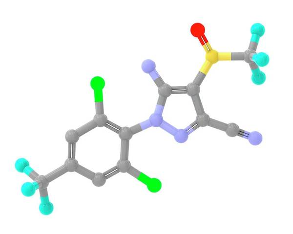 Wall Art - Photograph - Fipronil Insecticide Molecule by Alfred Pasieka/science Photo Library