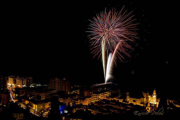 Photograph - Fireworks - Fuochi Artificiali - Pietra Ligure by Enrico Pelos