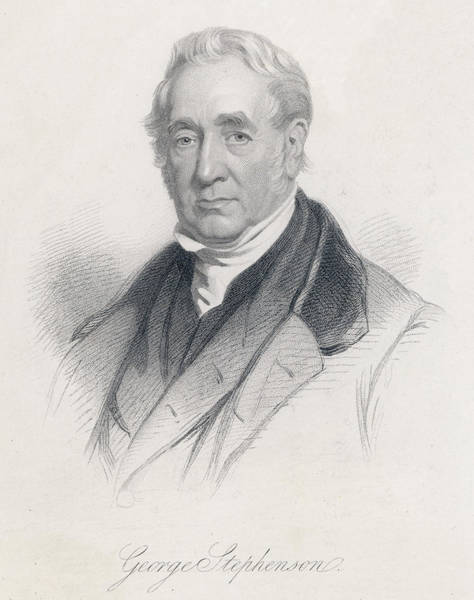 Wall Art - Drawing - George Stephenson (1781 - 1848) by Mary Evans Picture Library