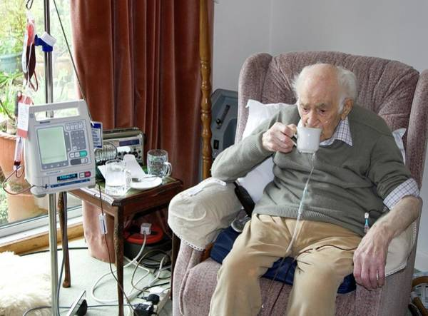 Patient Photograph - Home Care by Life In View/science Photo Library