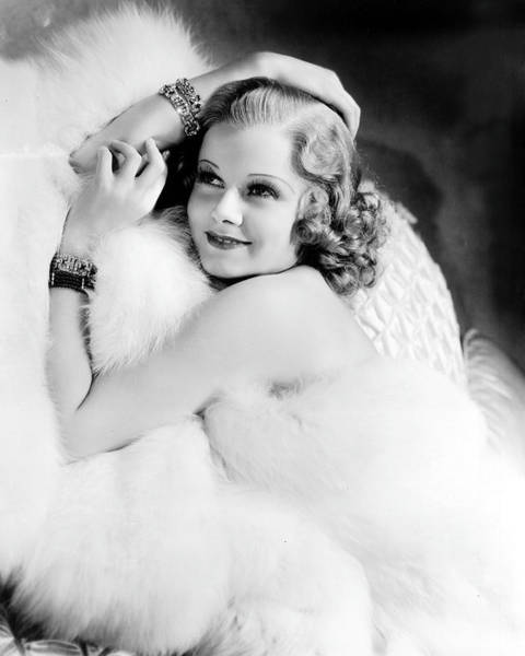 Glamorous Photograph - Jean Harlow by Silver Screen