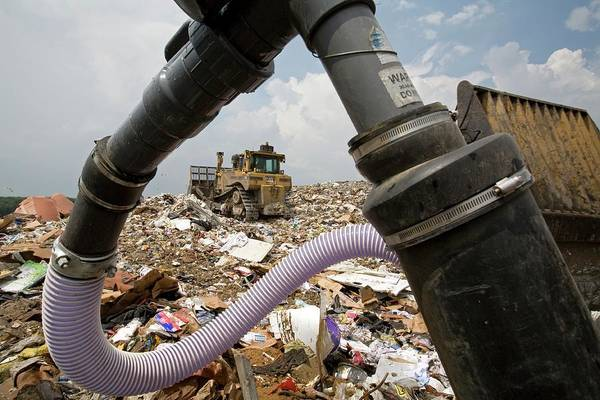 Bulldozer Photograph - Landfill Gas Recovery Well by Jim West