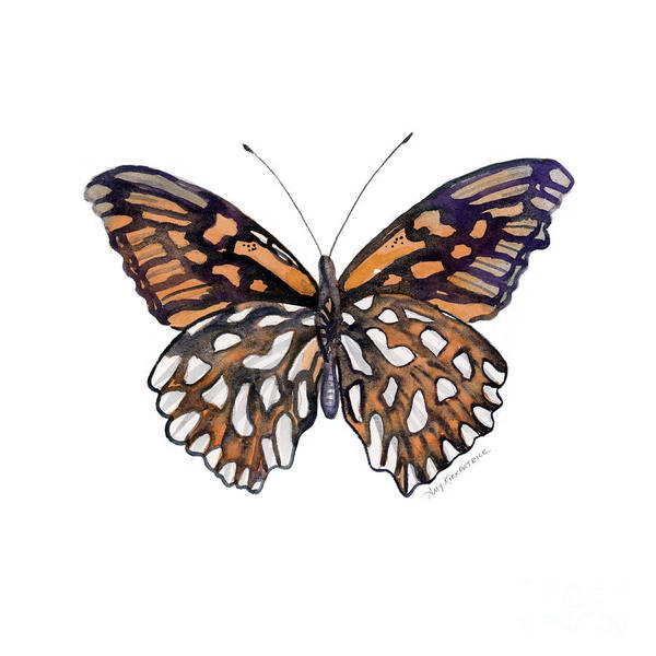 Painting - 9 Mexican Silver Spot Butterfly by Amy Kirkpatrick