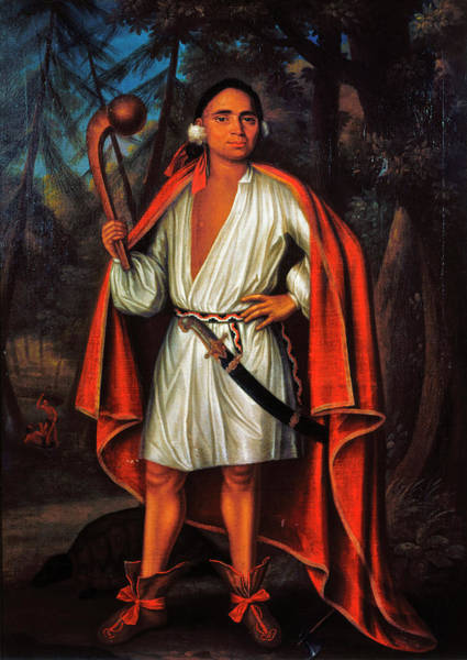 Wall Art - Painting - Mohawk Chief, 1710 by Granger