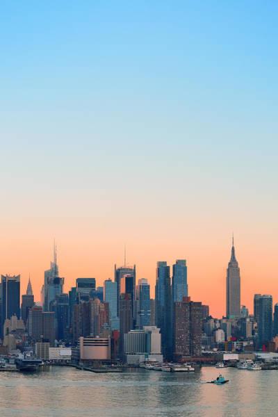 Wall Art - Photograph - New York City Sunset by Songquan Deng