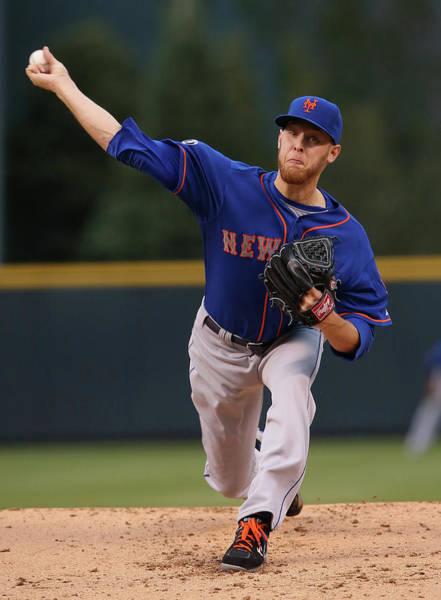 Baseball Pitcher Photograph - New York Mets V Colorado Rockies by Doug Pensinger