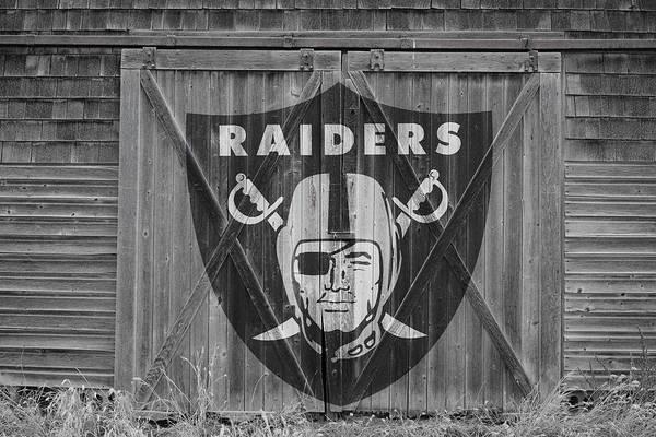 Barn Door Photograph - Oakland Raiders by Joe Hamilton