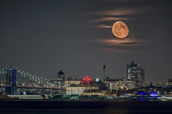 Brooklyn Bridge Digital Art - 9 O'clock by Eduard Moldoveanu