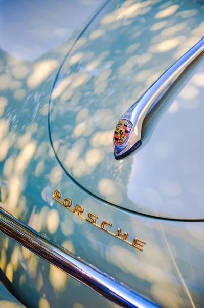 Photograph - Porsche 1600 Super Hood Emblem by Jill Reger