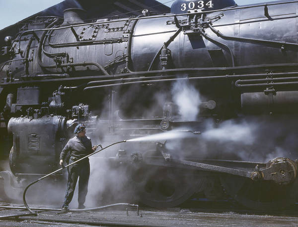Chicago And North Western Photograph - Railroad Worker, 1943 by Granger