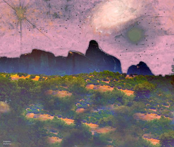 Digital Art - Starry Landscape by Augusta Stylianou