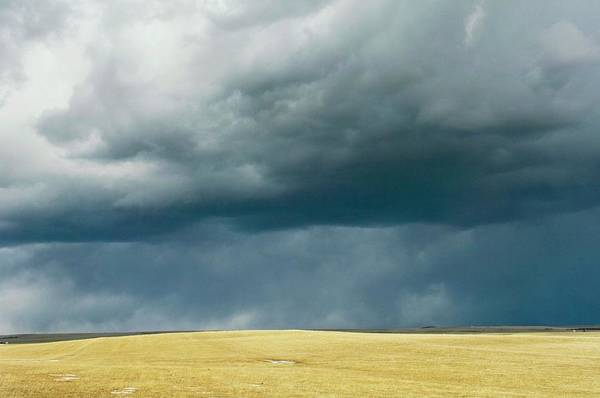 Wall Art - Photograph - Stormy Sky Over Fields by Jim Reed Photography/science Photo Library