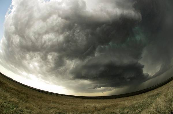 Grey Cloud Photograph - Supercell Thunderstorm by Jim Reed Photography/science Photo Library