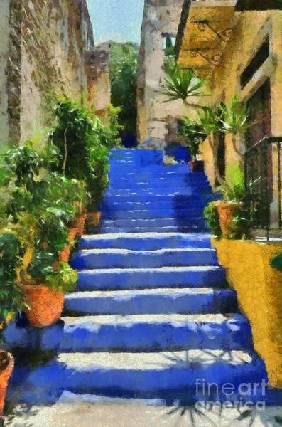 Greek House Painting - Symi Island by George Atsametakis