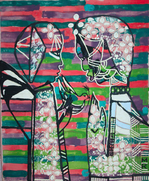 Mama Africa Wall Art - Painting - The Annunciation by Gloria Ssali