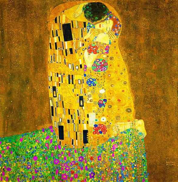 Painting - The Kiss  by Gustav Klimt