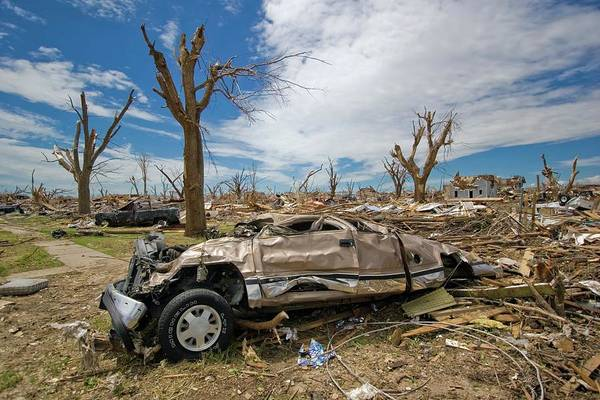 Wall Art - Photograph - Tornado Aftermath by Mike Theiss/science Photo Library