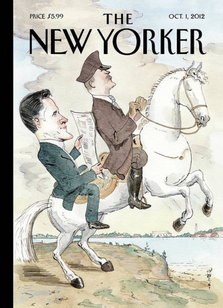 Romney Painting - New Yorker October 1st, 2012 by Barry Blitt