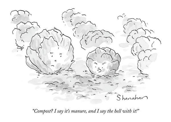 Compost? I Say It's Manure Art Print