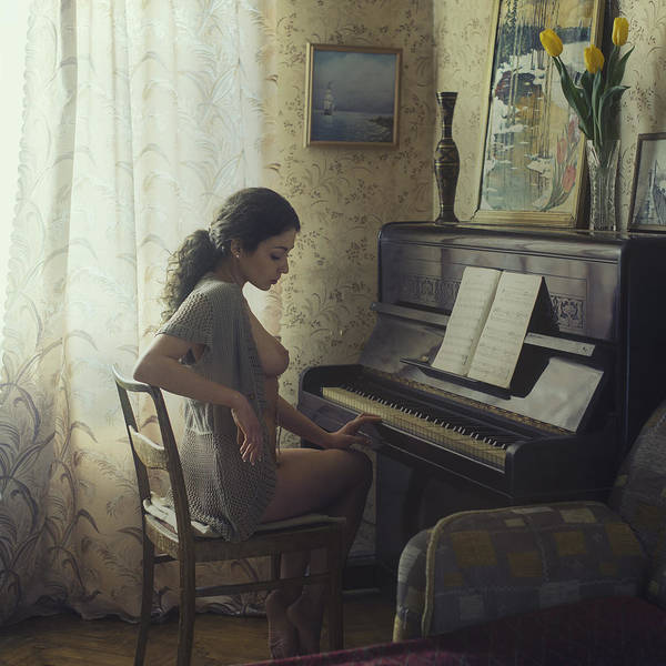 Piano Photograph - Untitled by David Dubnitskiy