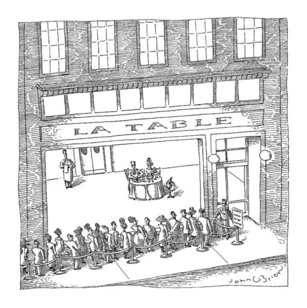 Line Drawing - New Yorker February 13th, 2006 by John O'Brien
